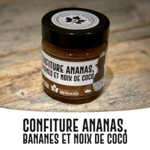 confiture ananas bananes noix de coco